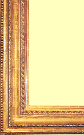 Large 19th century replica picture frame, water gilt in 22k gold leaf