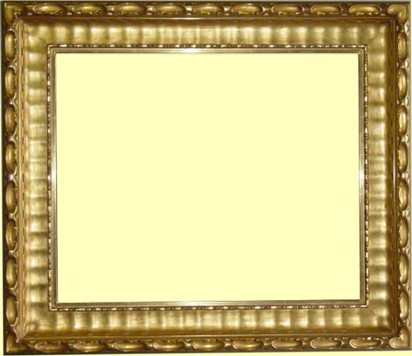 Custom Made Hand Carved Gold Leaf Picture Frame Water Gilding
