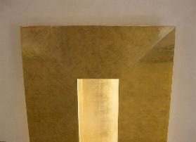 Custom water gilt 23k Gold Leaf architectural installation
