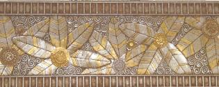 Custom Gold Leaf architectural frieze