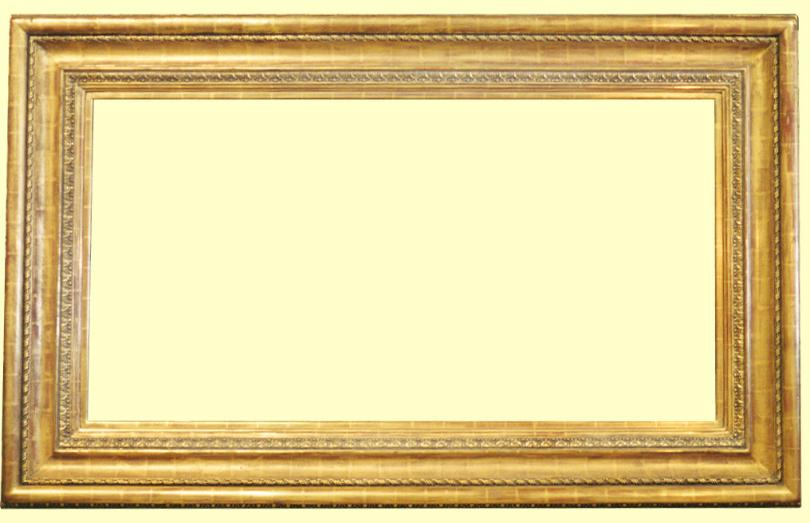 Large Water Gilded Goldleaf Picture Frame Antique Replica Water